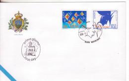 20-San Marino-europa 1993-Arte Contemporanea-F.D.C. Con Annullo Speciale - San Marino