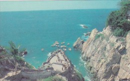 Mexico Acapulco Panoramic View Of The Quebrada
