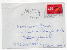 1972--tp N°1720--Code Postal  0.50F  Seul Sur Lettre -cachet Flamme BAYONNE--64--destination KEMPTEN- Allemagne - Storia Postale