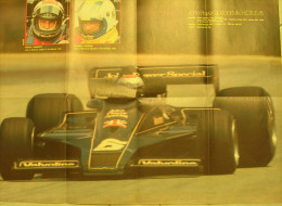 POSTER    AUTOSPRINT  -  MARIO ANDRETTI - GUNNAR NILSSON - LOTUS FORD 78 F1 1977 - Affiches