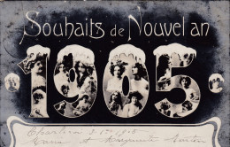 1905 Jaartal Gelukkig Nieuwjaar Souhaits De Nouvel An 1905 Jugendstil Charleroi Fantasie Kaart Fantaisie Carte - Anno Nuovo
