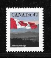 CANADA, 1991.  # 1356, FLAG Over HILLS.  MNH - 1952-.... Règne D'Elizabeth II