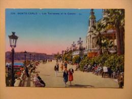 CPA MONTE CARLO Les Terrrasses Et Le Casino - Monte-Carlo
