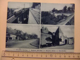 CPA LANGRES Crémaillère électrique /remparts Côté Ouest /remparts Côté Est / Porte Boulière - Langres