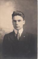 Real Photo A.Z. Pinsonneault Sherbrooke - Unidentified Man - Homme Non Identifié - 2 Scans - Postcards