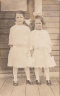 Real Photo - Unidentified Children Girls - Enfants Filles - Non Identifié - 2 Scans - Postcards