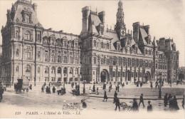 Paris 75 - Hôtel De Ville - City Hall - Ani,ated - Très Animée - LL No 119 - 2 Scans - France