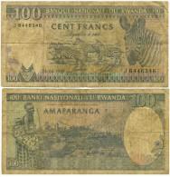 1989 Rwanda 100 Francs Banknote - Rwanda
