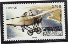 FRANCE YT PA 77 NEUF** LUXE 1RE TRAVERSEE DE LA MEDITERRANEE ROLAND GARROS 1913-2013 POSTE AERIENNE - France