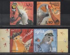 Croatia 2015, Used, Michel 1163_66, Pets, Parots - Croatia