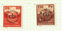 1933 Timbres De Service 9-10  Série Complète *  Reste De Charnières  MH  Signés Zumstein - Official