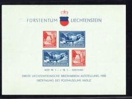 1936 2è Exposition Philatélique Bloc 2 **  MNH - Liechtenstein