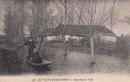 Thématiques 85 Vendée Folklore Costume Coiffe Maraichin Maraichine Habitation Bourine Et Yole - France