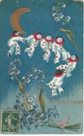 PIERROTS LUNE  MYOSOTHIS  GAUFREE DON DU COEUR 1908 - Fantaisies