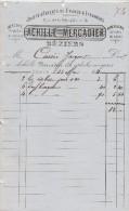Facturette 1821 ACHILLE MERCADIER Jouets D´enfants BEZIERS Hérault - 1800 – 1899
