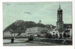 Graz Stadt Franz Karl Brücke Mit Schlossberg  1907    2 SCAN - Graz