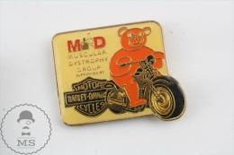 Motor Harley Davidson Muscular Dystrophy Group - Motorcycle Pin Badges - Transportes