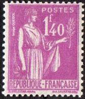 France Type Paix N°  371 ** De La 5ème Série, Le 1fr40 Lilas - 1932-39 Paix