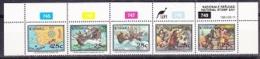 Ciskei 1991 National Stamp Day Strip 5v + Margin ** Mnh (27322) - Ciskei