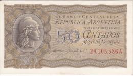 BILLETE DE ARGENTINA DE 50 CENTAVOS DEL AÑO 1947 CALIDAD EBC (XF) (BANKNOTE) - Argentina