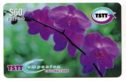 TRINIDAD & TOBAGO CARAIBES MV Cards T&T-P8 60$ CODE E/002 ORCHIDEE - Trinité & Tobago