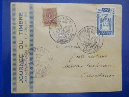 Lettre Du Maroc Journée Du Timbre Casablanca 13 Octobre 1945 - Covers & Documents