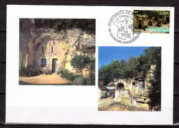 """UNIQUE : Enveloppe 1er Jour De 2004 """" LA FRANCE A VOIR : MAISON TROGLODYTIQUE """". N° YT 3707. FDC - 2000-2009"""