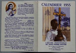 Calendrier 1955 L'oeuvre Pontificale De Saint-Pierre-Apôtre - Calendriers