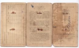 PERSONALAUSWEIS / PASSPORT / CARTE D´IDENTITE - Belgien, 1912 - Historische Dokumente