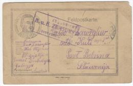 WWI Feldpostkorrespondenzkarte K.u.k. Censored Travelled 1917 From Galizien To Bebrina Bb160225 - Briefe U. Dokumente