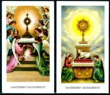 Santino - Santissimo Sacramento - 2 Santini Con Inno Di Adozione - Images Religieuses