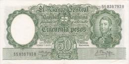 BILLETE DE ARGENTINA DE 50 PESOS LEYES Nº 12962 Y 13571 CALIDAD EBC (XF) (BANKNOTE) DIFERENTES FIRMAS - Argentina