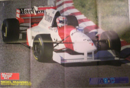 POSTER    AUTOSPRINT  -  NIGEL MANSELL - MC LAREN MERCEDES MP4/10 F1 1995 - Affiches
