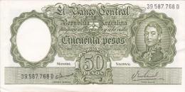 BILLETE DE ARGENTINA DE 50 PESOS - MONEDA-  CALIDAD EBC (XF) (BANKNOTE) DIFERENTES FIRMAS - Argentina