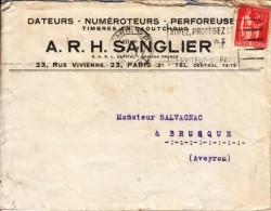 1934 - Lettre à Entête - Dateurs Numéroteurs Sanglier Au 23 Rue Vivienne à Paris 2ème - FRANCO DE PORT - France