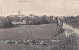 Thématiques 85 Vendée Chauché Vue Panoramique Ecrite Timbrée Cachet  29 07 1918 - Otros Municipios