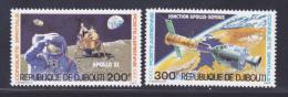 DJIBOUTI AERIENS N°   138 & 139 ** MNH Neufs Sans Charnière, TB, Cosmos - Djibouti (1977-...)