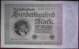 Deutschland - 100000 Mark 1923 (WPM 83a) Hunderttausend - [ 3] 1918-1933 : Weimar Republic