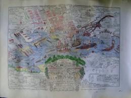 PLAN MONUMENTAL DE LA VILLE DE TOULON EN COULEUR - Topographical Maps