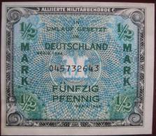 1/2 Mark 50 Pfennig 1944 (WPM 191a) Alliierte Militärbehörde - [ 5] Ocupación De Los Aliados