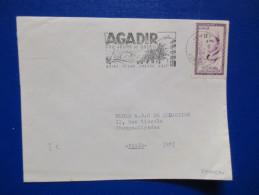 Lettre Du Maroc 1957 Flamme Agadir - Morocco (1956-...)