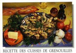 CP  Recettes De Cuisine  -  Editions M G  010  -      RECETTE DES CUISSES DE GRENOUILLES - Recetas De Cocina