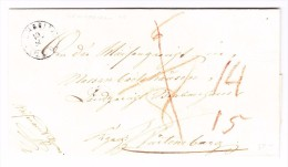 Heimat SG SCHMERIKON 10.9.1845 Brief Nach Württenberg - Lettres & Documents