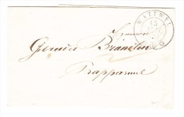 Heimat SG WATTWYL 15.5.1851 Brief Nach Rapperswyl Mit Rotem Ankunftsstempel - 1843-1852 Timbres Cantonaux Et  Fédéraux