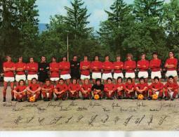 FOOTBALL EQUIPE A S ROMA 1973 1974 REAL PHOTO 17cm / 24cm  DEDICACES DES JOUEURS  SQUADRA ITALIAN - Autographes
