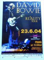 Orginal - Last Tour David Bowie 23.06.2004  Prag-Praha-Ptague - 59 X 84 Cm - Affiche-Posters - Affiches & Posters