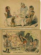 Lot De 2 Cpa  Illustrateur B.Moloch C'est Un Véritable Poisson D'Avril   Le Dessin Préhistorique - Moloch