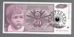 MACEDONIA YUGOSLAVIA 50 DINARA 1990 1991 .G.  SUVERENA MACEDONIA  RRR - Macedonia