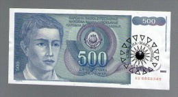 MACEDONIA YUGOSLAVIA 500 DINARA 1990 1991 .G.  SUVERENA MACEDONIA  RRR - Macédoine