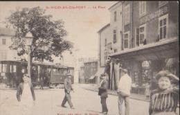 CPA:St Nicolas Du Port:La PLace:Tramway - Saint Nicolas De Port